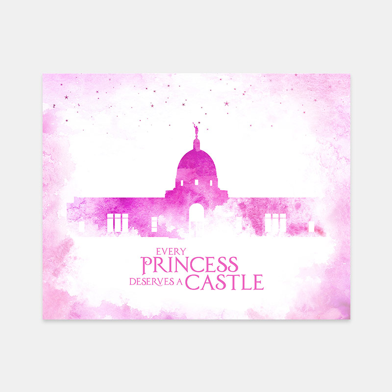 Tucson Temple – Princess Castle Print