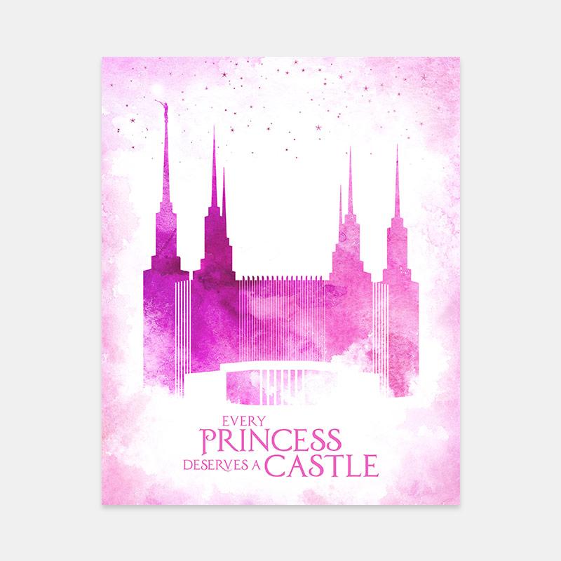 Washington DC Temple – Princess Castle Print
